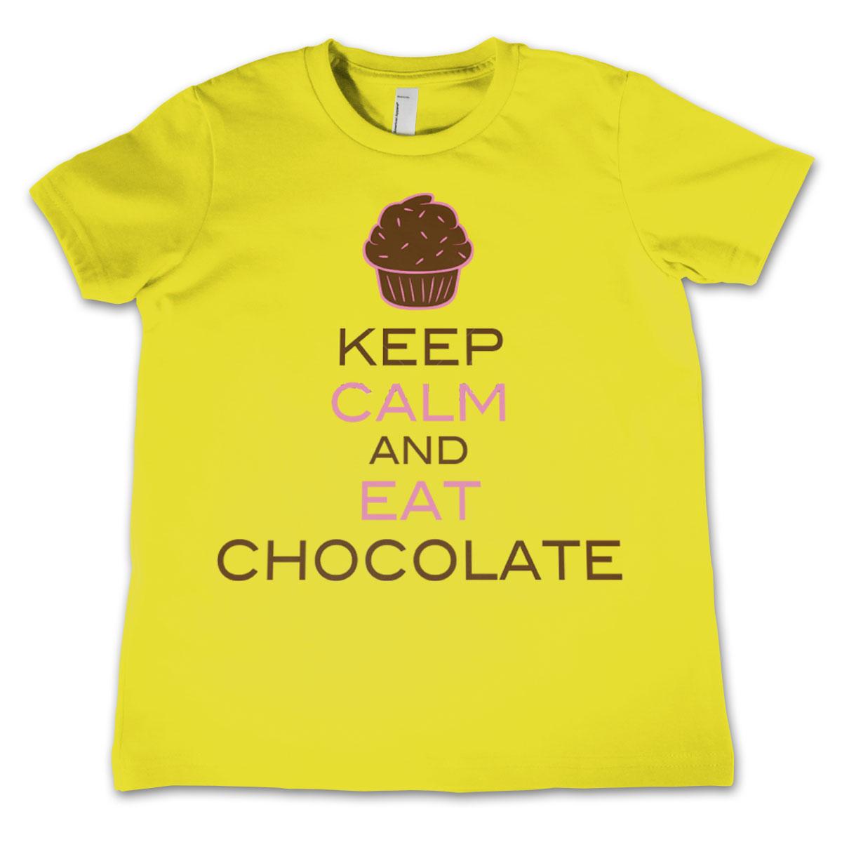 Keep Calm And Eat Chocolate Kids T-Shirt